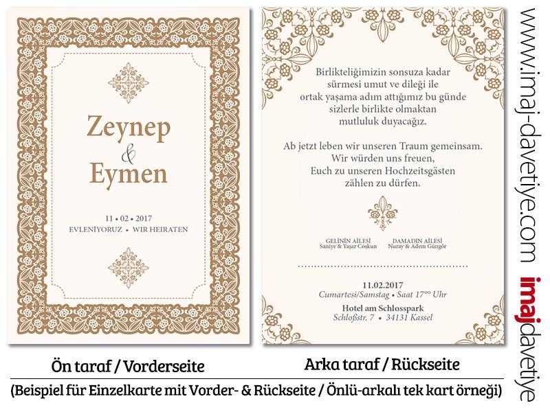 mehrsprachige türkische einladungskarten, hochzeitskarten, Einladungsentwurf