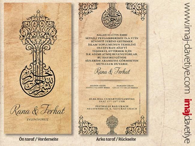 Einladungskarte Mit Besmele Arabisch