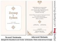 türkische einladungskarten für hochzeit und henna-abend, Einladungsentwurf
