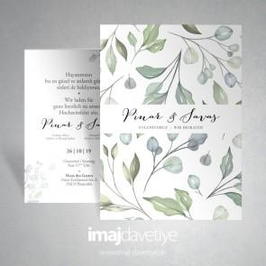 Einladungskarte im Floraldesign - 071