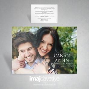 Einladungskarte mit Ihrem persönlichem Paarfoto für Hochzeit oder Verlobung 047