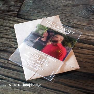 Acrylglas Einladung mit Foto 12