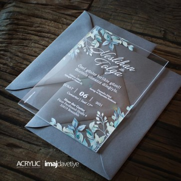 Acrylglas Einladung Neslihan 06
