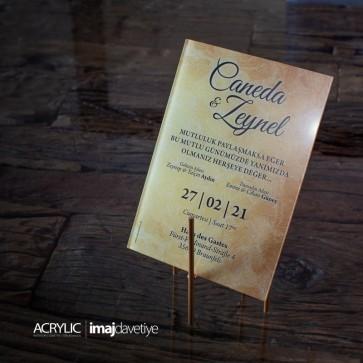 Acrylglas Einladung Caneda 10