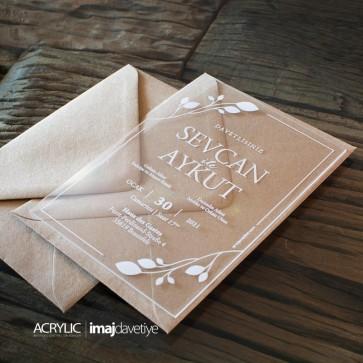 Acrylglas Einladung Sevcan 03