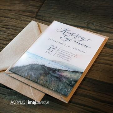 Acrylglas Einladung Kadriye 23