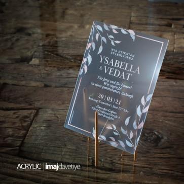 Acrylglas Einladung Ysabella 17