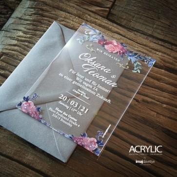 Acrylglas Einladung Oksana 14