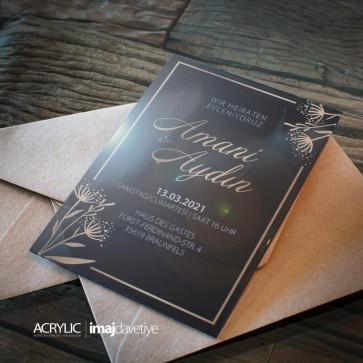Acrylglas Einladung Amanie 13