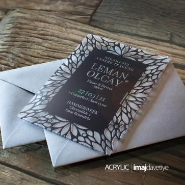 Acrylglas Einladung Leman schwarz 18A