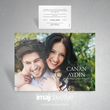 Kendi fotoğrafınız ile düğün veya nişan davetiye kartı 047