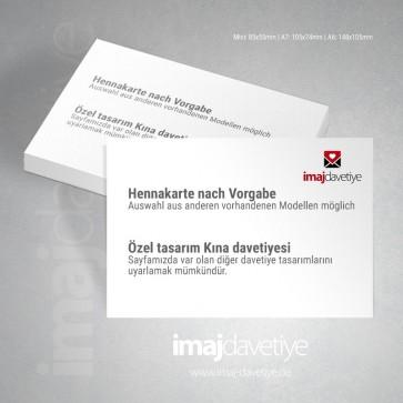 Özel tasarım Kına kartı