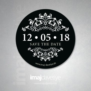 Save the Date Stiker 23