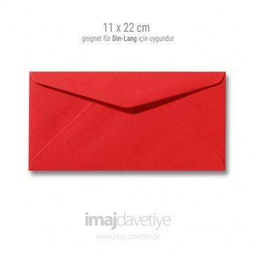 Zarf | 11x22cm | kırmızı