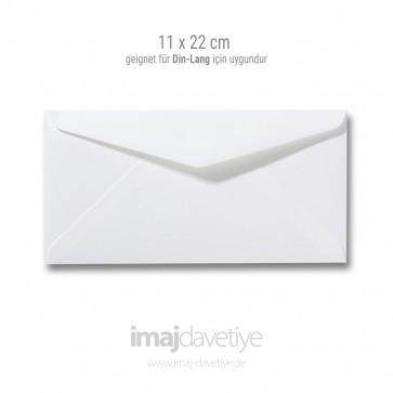 Zarf | 11x22cm | beyaz