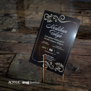 Acrylglas Einladung Nesli 05