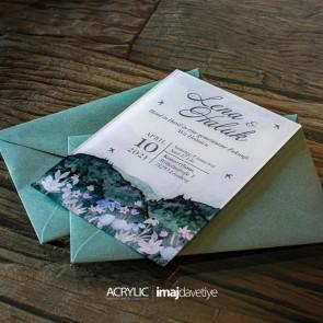 Acrylglas Einladung Lena 22