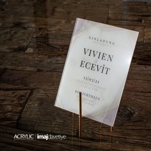 Acrylglas Einladung Vivien 16