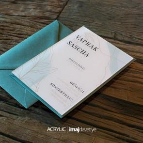 Acrylglas Einladung Yaprak 15