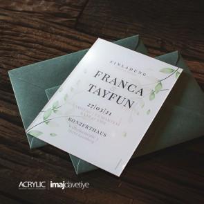 Acrylglas Einladung Franca 19