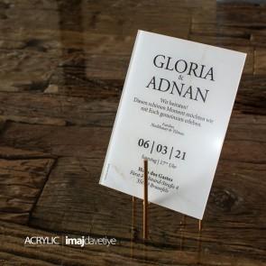 Acrylglas Einladung Gloria 11