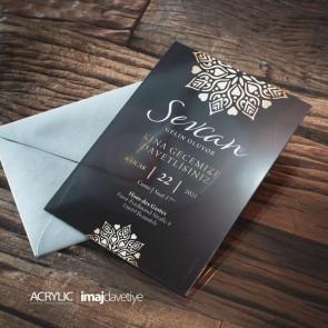 Acrylglas Einladung Sevcan 04