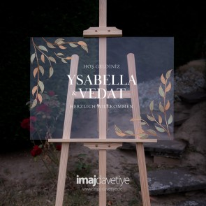 Akrilik cam karşılama Panosu - Ysabella