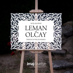Akrilik cam karşılama Panosu - Leman