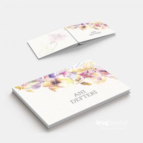 Suluboya çiçek desenli Anı defteri - GB05