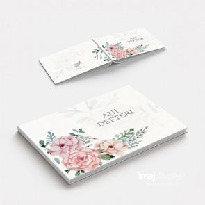 Düğün veya Kına geceniz için Suluboya çiçekli Anı Defteri - GB01