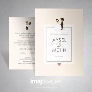 Gelin-damat / Brautpaar düğün davetiye 006