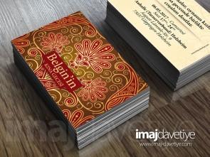 Farklı renklerde desenli süslemeli kına kartı davetiyesi - değişik boyutlarda- 12