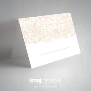 Sade desenli masa kartları - 02