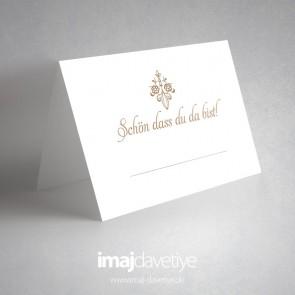 Yazılı beyaz masa kartı - 07
