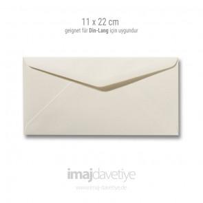 Zarf | 11x22cm | fildişi