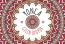 Mandala tarzı Kına davetiyesi kırmızı